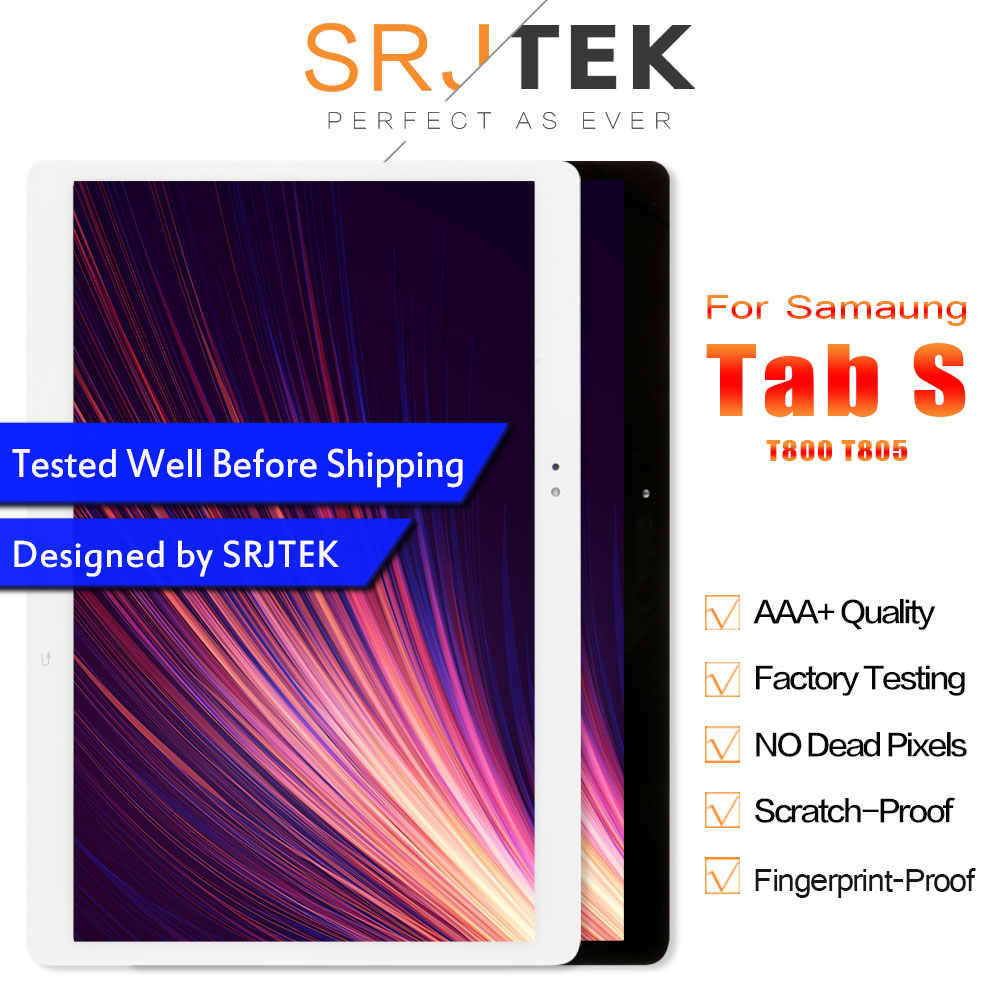 """Srjtek 10.5 """"لسامسونج غالاكسي تبويب S T800 T805 SM-T800 SM-T805 شاشة الكريستال السائل مع محول الأرقام بشاشة تعمل بلمس الاستشعار التجمع الكامل"""