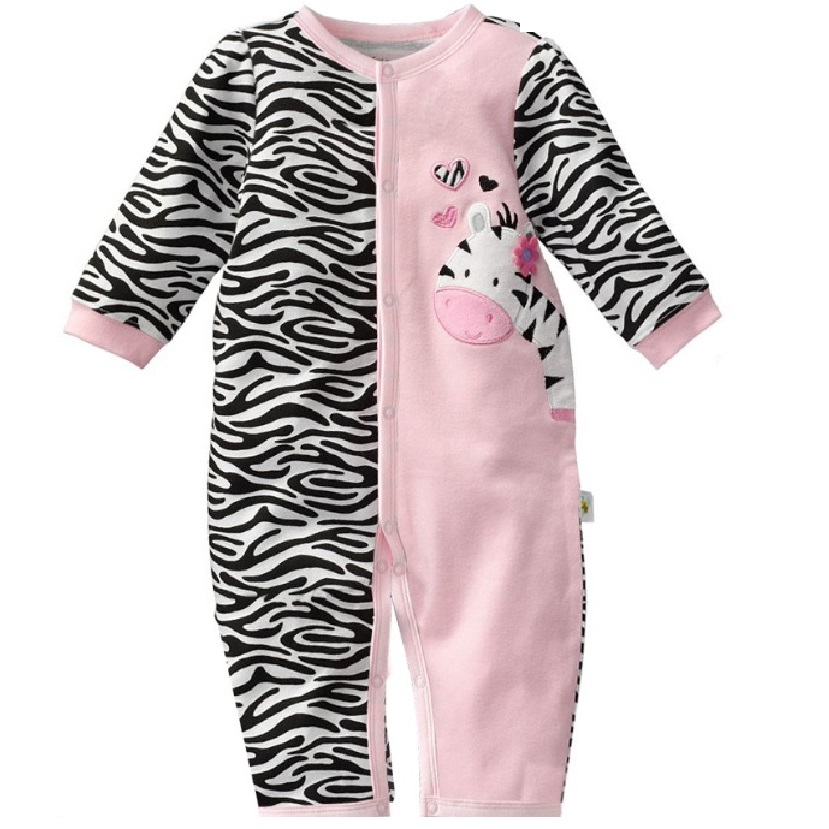 Zebra Baby Rompers Baby Girls clothes Body suits One-piece Romper TOP QUALITY bebe jumpsuit newborn roupa bebes infantil months 2016 bebe rompers ropa pink minnie hoodies newborn long romper baby girl clothing roupa infantil jumpsuit recem nascido