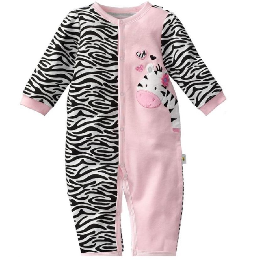 Zebra Baby Rompers Մանկական Աղջիկների հագուստ Մարմին կոստյումներ Մի կտոր Romper bebe jumpsuit նորածին ռուպա bebes նորածինների ամիս Պիժամա