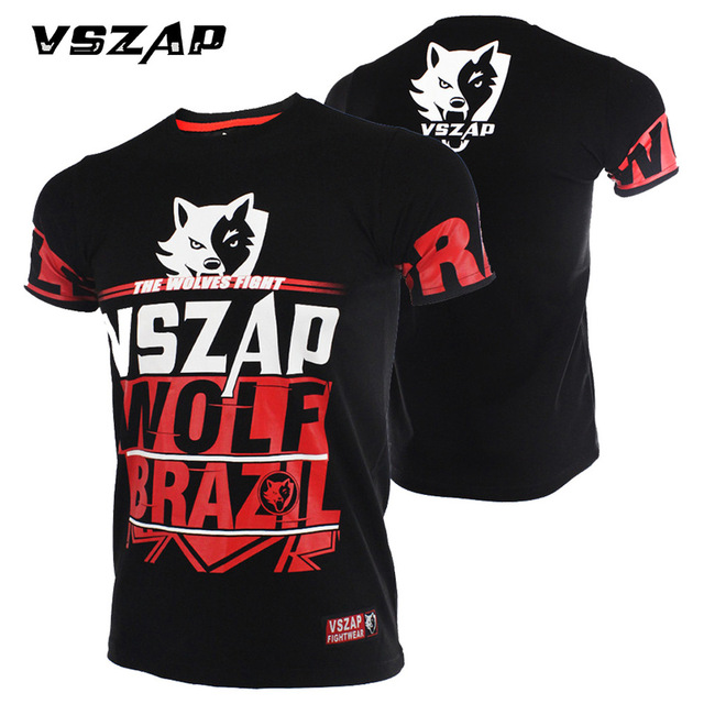 VSZAP Fight Short Sleeve T-shirt  Fight MMA Shirt Combat Comprehensive  Muay Thai  Jerseys  T Shirt Men