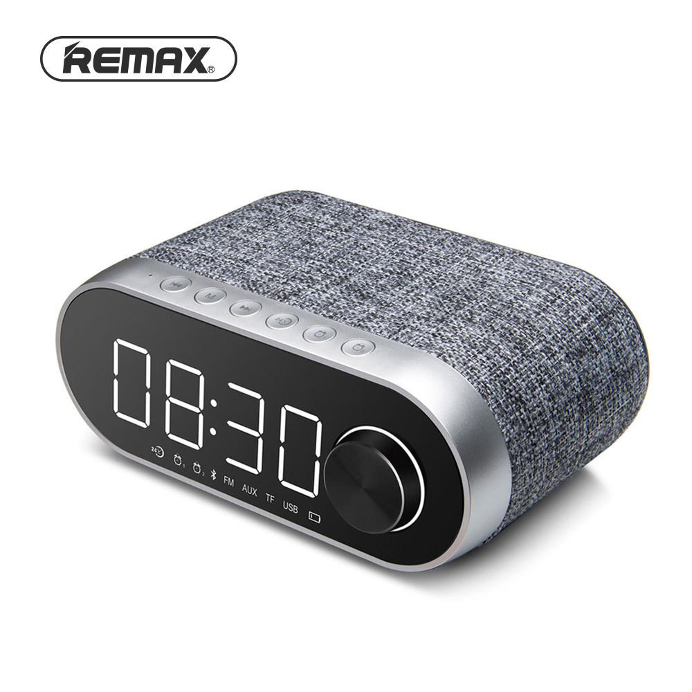 Remax FM Radio MultiFunctional Bluetooth Speakers Dual Alarm Clock Support TF Card USB Sound Player Portable RB-M26