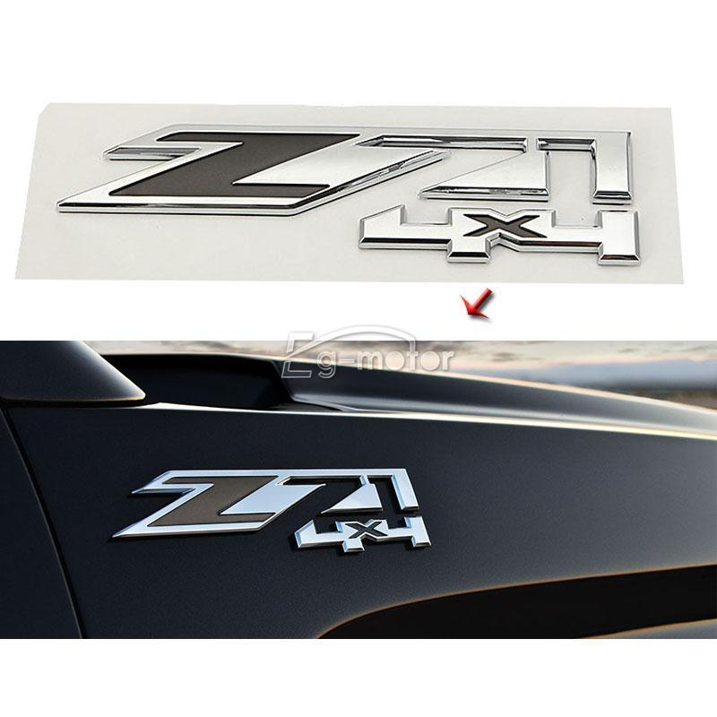 Z71 4x4 Emblem Badge ABS Plastic Silver Decal Sticker Fits for Chevrolet Silverado auto chrome camaro letters for 1968 1969 camaro emblem badge sticker