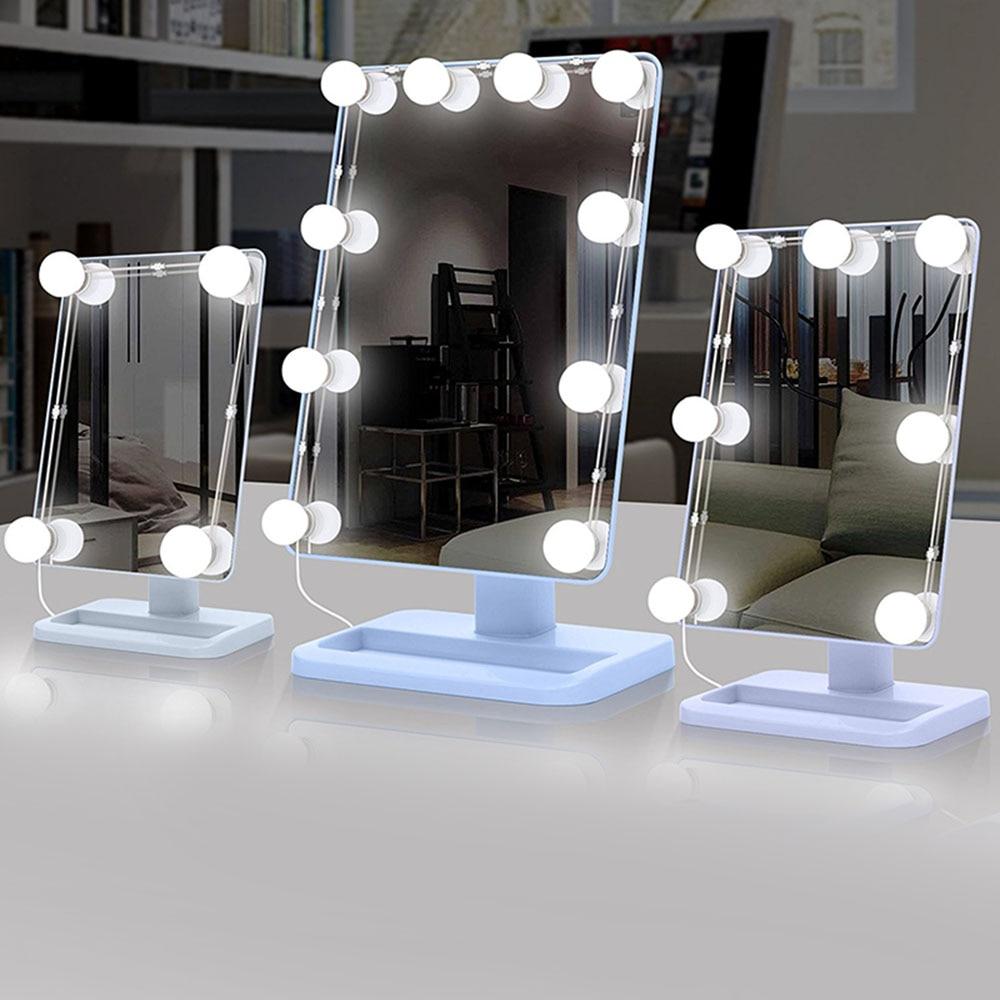 Makeup Mirror Vanity Led Light Bulbs Lighting Strings Kit