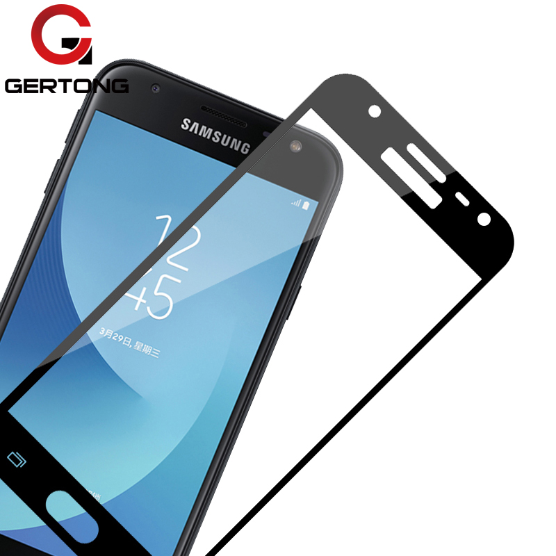 GerTong Full Cover Tempered Glass For Samsung Galaxy J3 J5 J330F J7 J730F 2017 A3 A320F A5 A7 A720F S6 S7 Screen Protector Film image