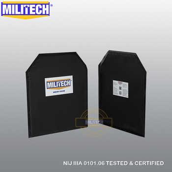 Ballistic Panel BulletProof Plate NIJ Level IIIA 3A 10'' x 12'' Shooters Cut Pair Insert Body Armor Aramid Soft Armour--MILITECH - DISCOUNT ITEM  0% OFF All Category