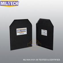 MILITECH 10'' x 12'' STC Cut Pairs Aramid Ballistic Panel Bullet Proof Plate Inserts Body Armor Soft Armour NIJ Level IIIA 3A