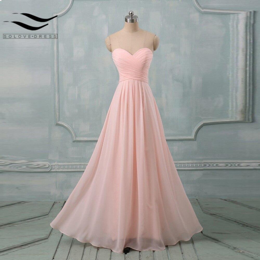 günstige pastell farben prom kleider zu hochzeit lange a-line liebsten  chiffon-formales kleid brautjungfer kleider