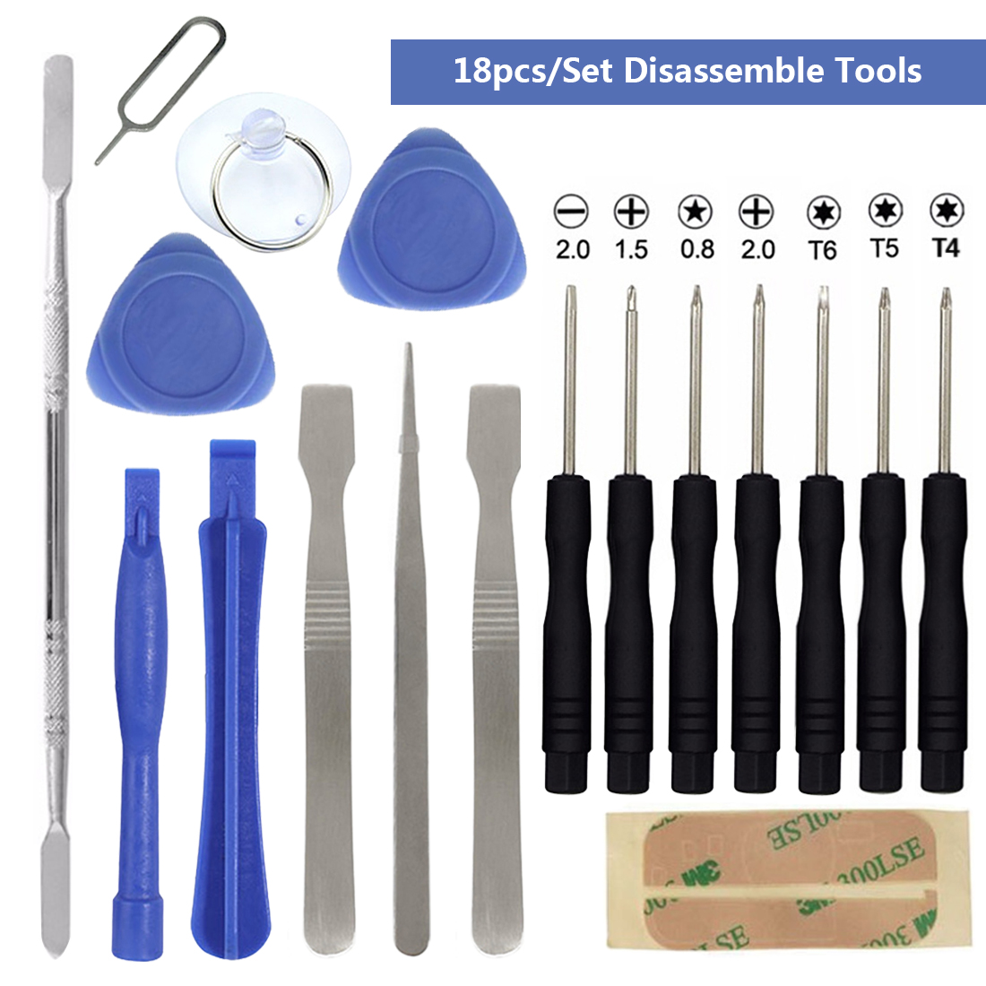 Tools Kit 18 in 1 Smart Mobile Repair Opening Smartphone Disassemble Screwdriver Set For Cell Phone Hand Tools Set