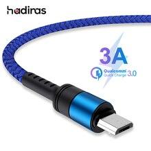 マイクロ USB ケーブル 3A QC3.0 急速充電 USB データケーブルサムスン Xiaomi Huawei 社の Android 携帯電話のマイクロ Usb 充電器のコード