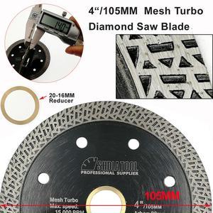 Image 4 - SHDIATOOL 2 piezas diamante prensado en caliente sinterizado disco de corte de malla de baldosa Turbo hoja de mármol Rueda de corte Sierra de múltiples materiales hoja