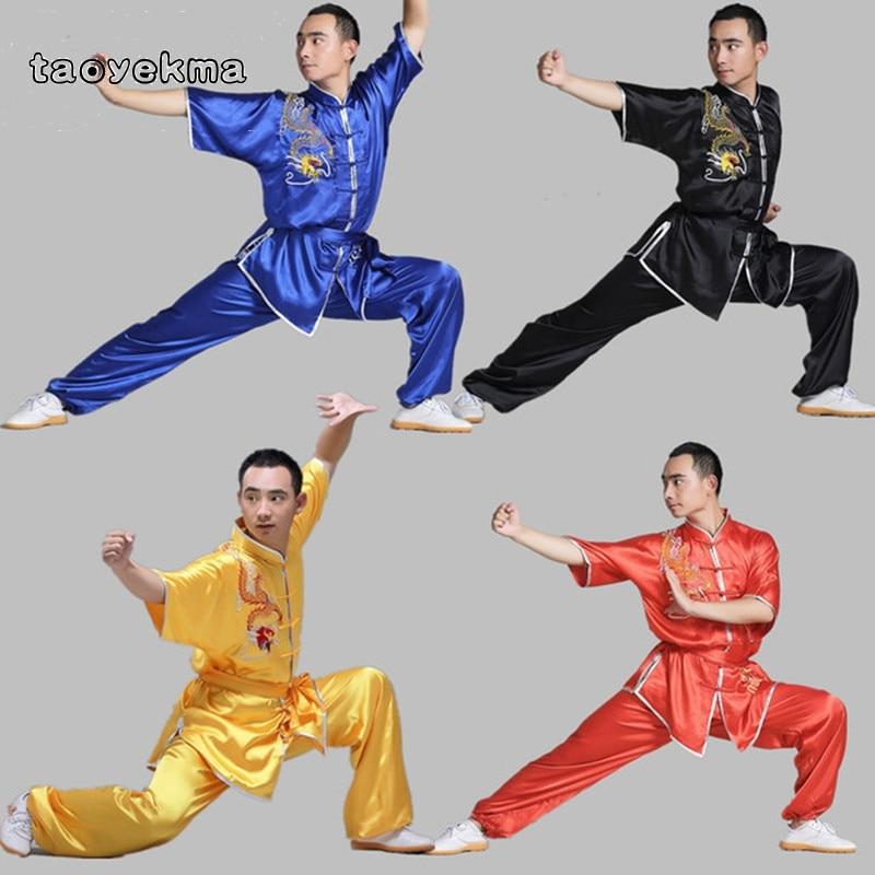 Taoyekma Wushu kung fu vêtements uniforme vêtements costume aile chun vêtements arts martiaux formation uniforme shaolin kungfu T97