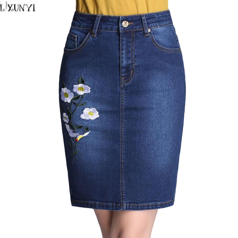 Online Get Cheap Embroidered Denim Skirt -Aliexpress.com | Alibaba ...