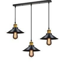 Современная люстра светодио дный LED блеск черный металл потолочные люстры Винтаж свет обеденный подвесной светильник для дома Бар Ресторан