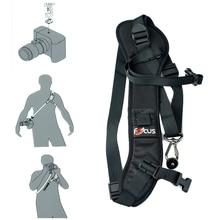 EACHSHOT Focus F-1 анти-скольжение Быстрый плечевой ремень шеи ремень для камеры Dslr черный + анти-потерянный объектив крышка Держатель