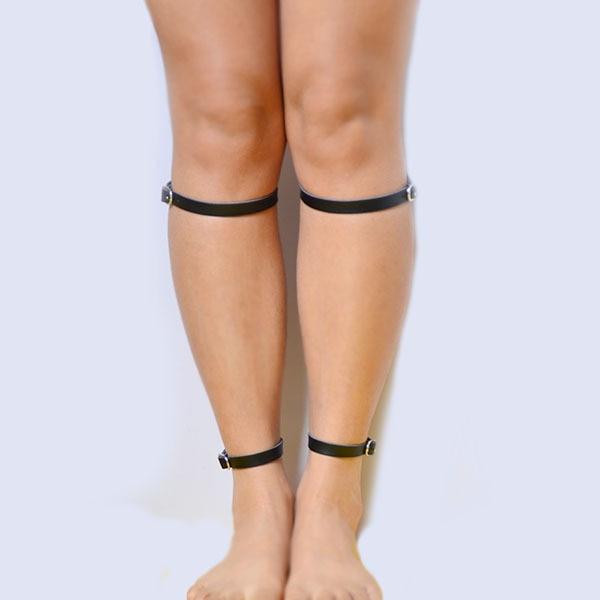 33bb49101 Atacado   Varejo 2019 New fashion sexy Gótico cinto de ligas couro Genuíno  das mulheres Preto garter belt para as presente