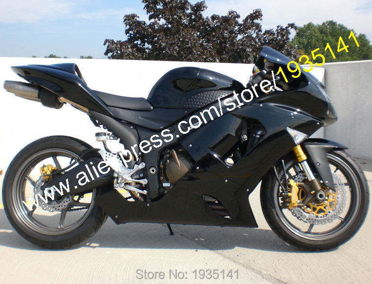 hot sales for kawasaki ninja 2005 2006 zx6r 05 06 zx 6r 636 zx 6r gloss black abs motorcycle. Black Bedroom Furniture Sets. Home Design Ideas