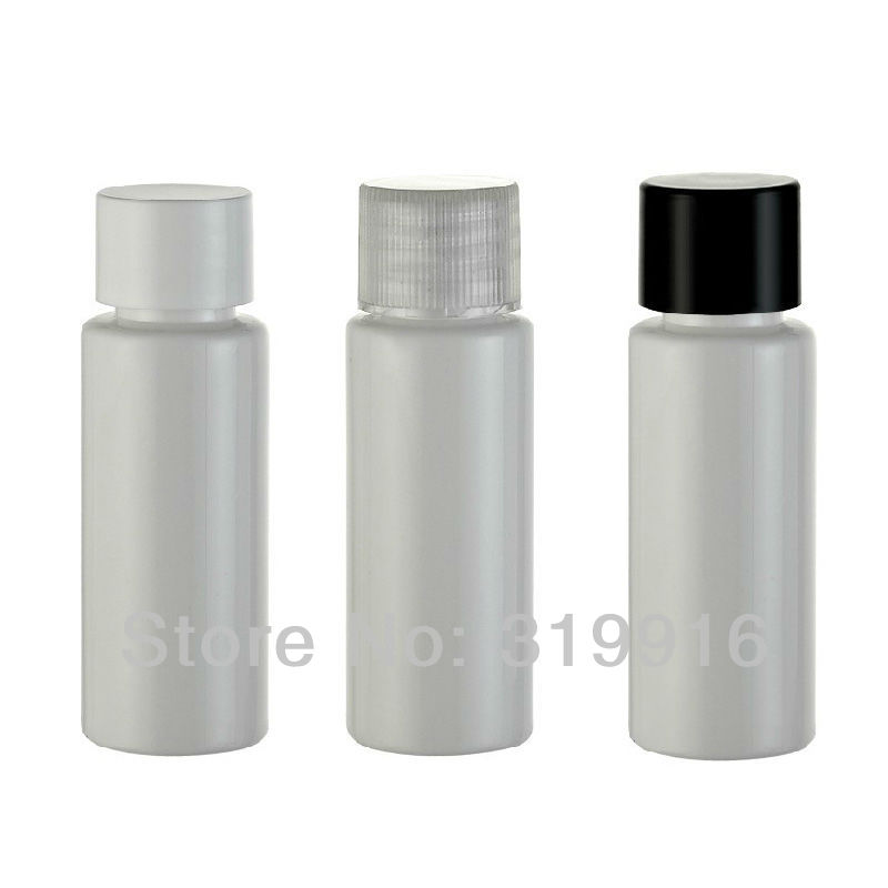 20ml X 100 White Empty Small Sample Cosmetic Bottles With Screw Cap,20cc Travel Size PET Bottles ,Sample Bottles,Lotion Bottle