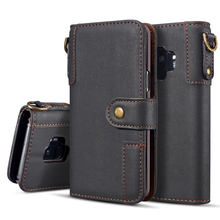 Cow Leather Case For Samsung Galaxy S20 S10E S9 S8 Plus S7 S6 Note 10 9 8 Case Wallet Cover Magnetic Phone Case For Samsung S10