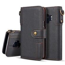 Kuh Leder Fall Für Samsung Galaxy S10E S9 S8 Plus S7 S6 rand Hinweis 9 8 Fall Brieftasche Abdeckung Magnet telefon Fall Für Samsung S10 Plus