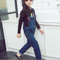Autumn Denim Overalls Korean Children Clothing Girls Overalls Jumpsuits Kids Jeans Overalls High Quality Girls Jeans Pants 2-13T
