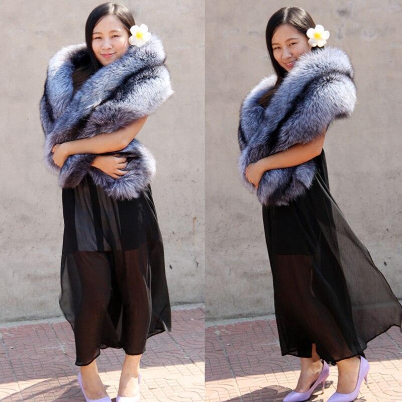 Invierno Mujer Marca de lujo Bufandas de piel natural Hombres 100% - Accesorios para la ropa - foto 4