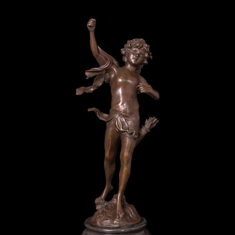 Nºatlie Roman Bronze Cupido Escultura Mito Amor Tico Deus Est Tuas