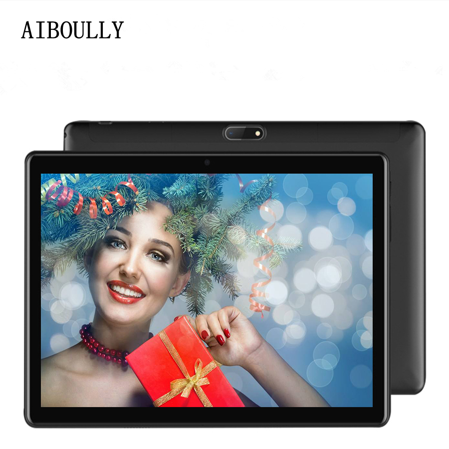 AIBOULLY 10.1 inch Android Tablet 3G Phone Call 4G LTE Octa Core Android 7.0 OS Tablet pc 4GB RAM 2.5D Stereo Speaker 7 10 10.1