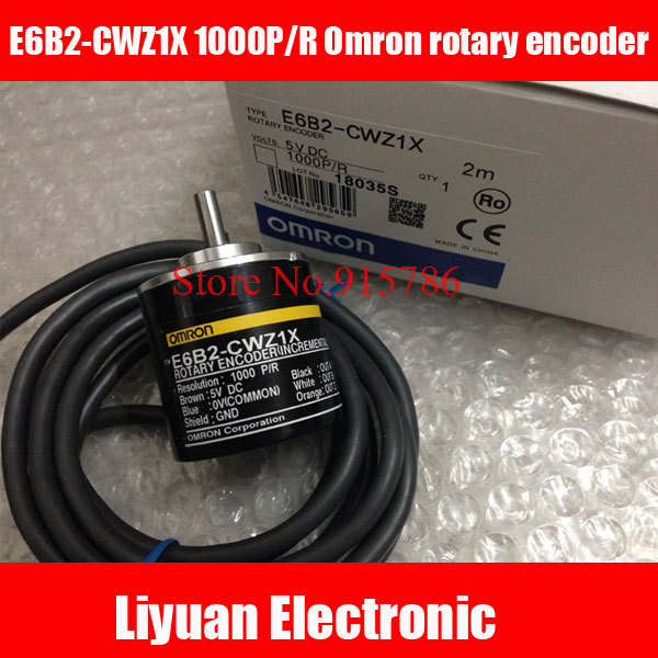E6B2-CWZ1X 1000P/R Omron rotary encoder / 1000 pulse incremental encoder / ABZ output 5VDC photoelectric encoder