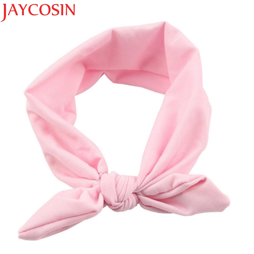 JAYCOSIN New Fashion Girls Rabbit Bow Ear Hairband Headband Turban Knot Head Wraps For Little Kids July13 Drop Shipping цены онлайн