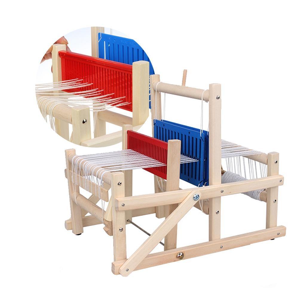 Bois traditionnel tissage métier à tisser artisanat éducatif bébé Art jouets artisanat en bois Machine à tisser accessoires de couture