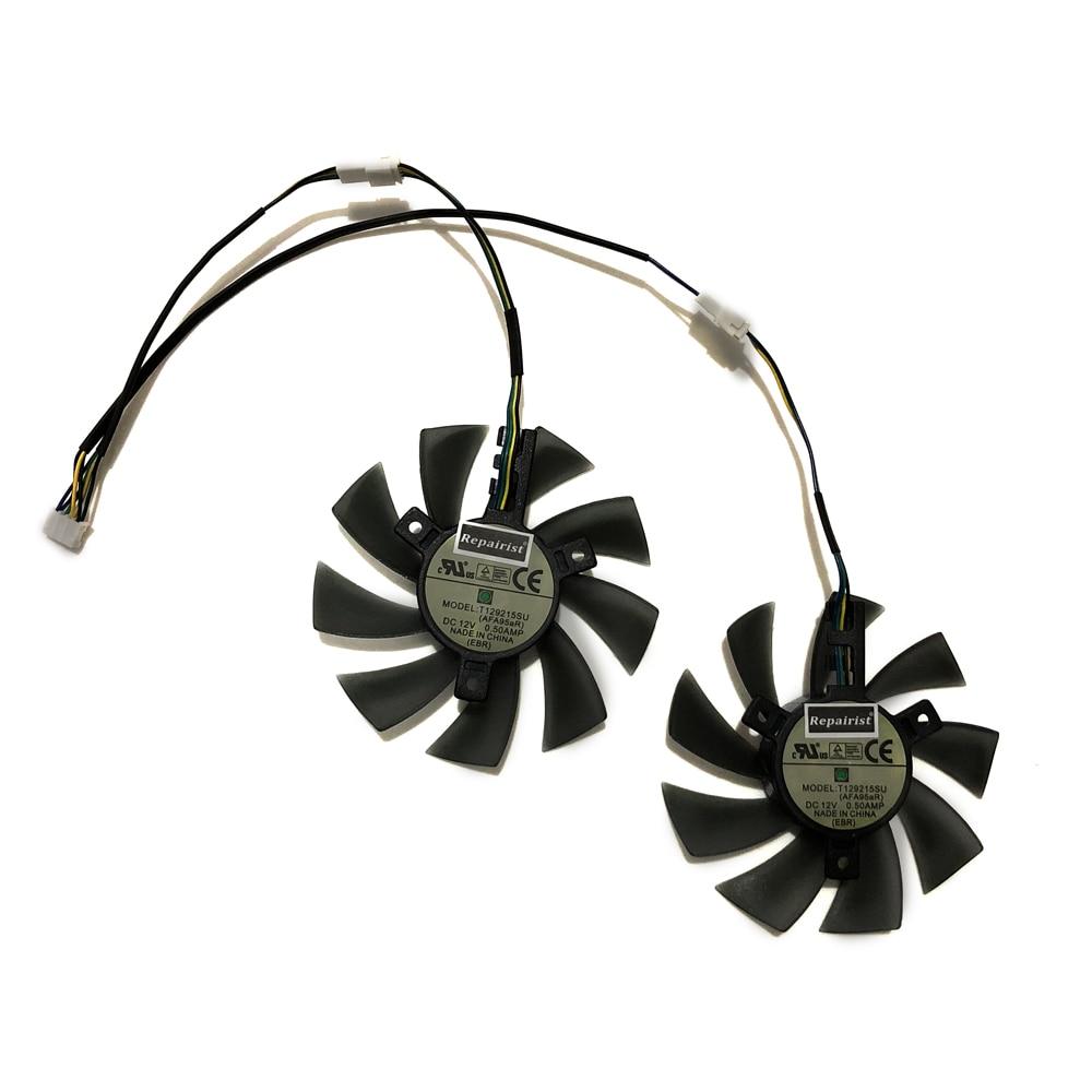 T129215SU GIGABYTE RX570 RX580 GPU VGA Alternative Refroidisseur Ventilateur De Refroidissement Pour gigabyte GTX1070/1060 Cartes Graphiques Comme Remplacement