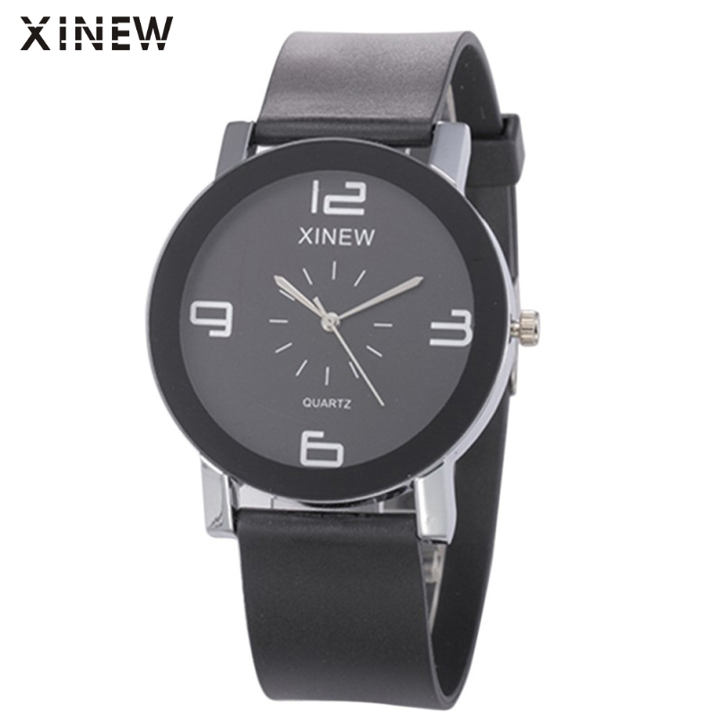 Excellent Quality XINEW Casual Men Watches Luxury Analog Quartz Watch Male Leather Business Wristwatch Relojes Hombres цена и фото