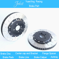 Jekit car brake rotors 355*32mm disk with center cap for mitsubishi evo X front brake caliper for Volvo 2019 XC 60/90