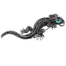 7ab2a5ba7d8 Rhinestone Lizard Animal Brooch For Men Women s Shirt Fashion Jewelry Metal  Cute Gecko Pin Enamel Rhinestone Jewelry Gecko