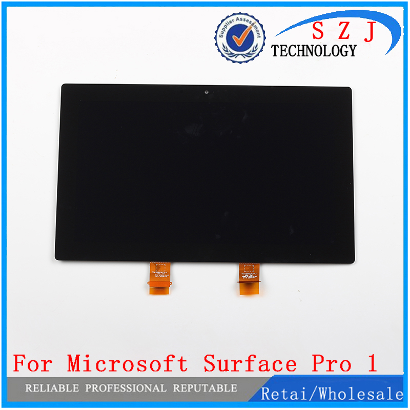 New 10.6'' inch For Microsoft Surface Pro 1 Pro1 Touch Digitizer LCD Display + Touch Screen Display Assembly Free shipping new original for microsoft surface pro 1514 pro 2 1601 ltl106hl01 001 lcd display touch screen digitizer lens free