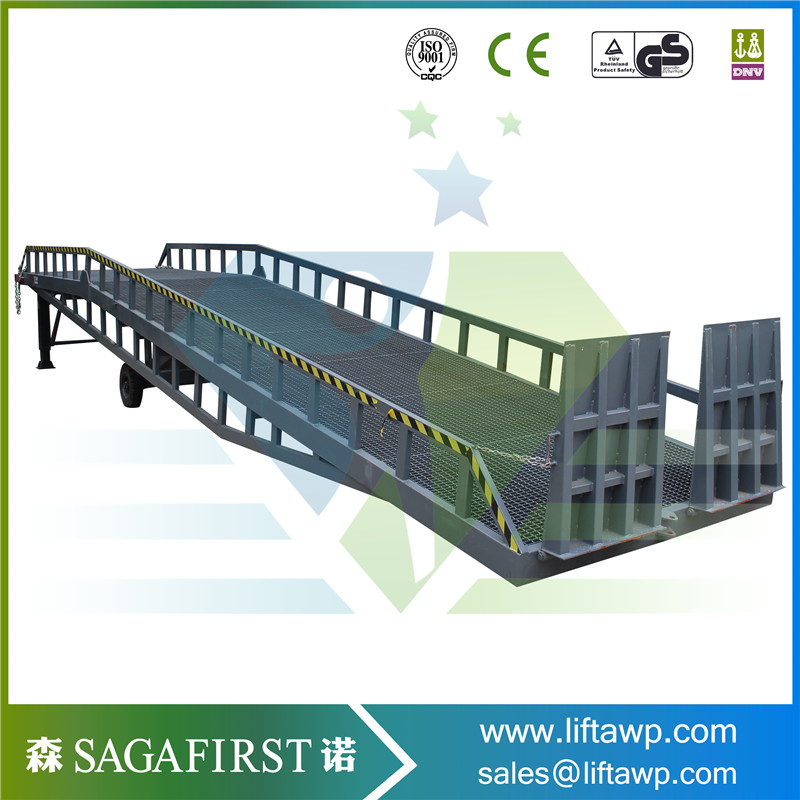 Towable Moving Hydraulic Loading Ramp For Container