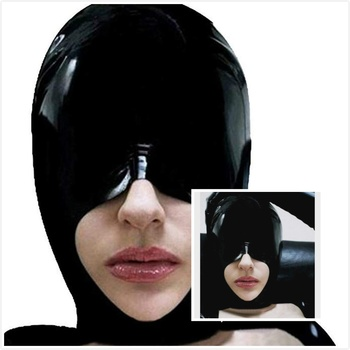 Latex Mask Rubber Hood Open Mouth for Party Wear Catsuit mask latex halloween mask latex sexy latex mask latex mask bdsm sex toy фото
