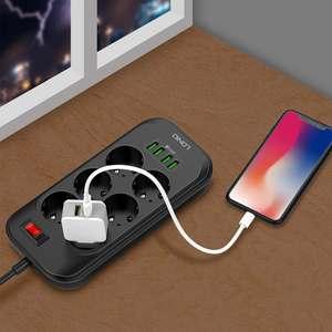 Image 5 - LDNIO ue Plug 3.4A 4 USB prise électrique Extension intelligente multiprise chargeur adaptateur 6 prise Protection contre les surtensions interrupteur maison