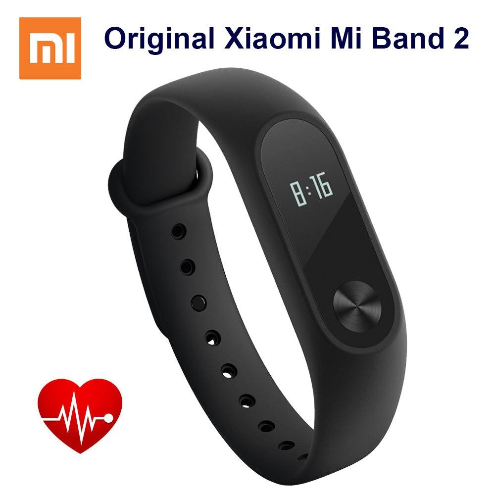 imágenes para Original Xiaomi Mi Banda 2 Pulsera Inteligente Miband 2 Muñequera Gimnasio Rastreador Android Pulsera Smartband Con Monitor de Ritmo Cardíaco