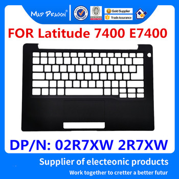 NEW original Laptop Top Cover Palmrest Top Cover Upper Case For Dell Latitude 7400 E7400 02R7XW 2R7XW DP/N: 02R7XW  AP2EB000123