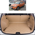 Free shipping fiber leather durable carpets car trunk mat for hyundai ix25 Creta 2014 2015 2016
