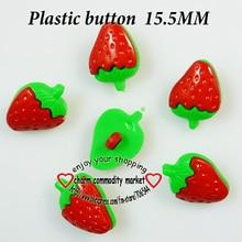 100 шт 15,5 мм красно-крашеные пластиковые пуговицы в форме клубники, пальто, сапоги, Швейные аксессуары для одежды, P-109