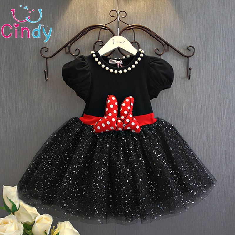 2017 Summer Baby Girls Dress Mouse Dresses For Girls Princess Dress Birthday Party Children Clothes Kids
