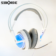 SIBORIE V2 Earphone Gaming Headset Gamer PC Headphhone Gamer Stereo Gaming Headphone with microphone Led For Pc