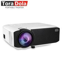Тора Дола E400A мини проектор, комплект в Android 7,1 WiFi Bluetooth, TF USB, Поддержка 1080 P фильм проектор, светодио дный Proyector