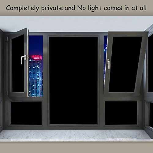 Blackout Window Film Static Cling Tint 100 Light Blocking Gl For Privacy Nap Time Night Working Heat Reject