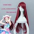 Бесплатная Доставка LoveLive! Солнце!! любовь Живая Солнце Riko Sakurauchi Высокое Качество Фиолетовый Красный Длинные Волосы Парики Аниме Косплей Парик