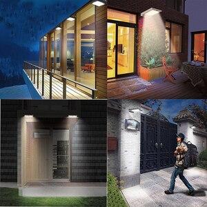 Image 5 - Süper parlak 46 LED açık güneş ışıkları güç ışık PIR hareket sensörü güvenlik su geçirmez bahçe için güneş lambası sokak