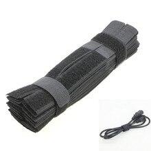 70 шт. кабельные стяжки обернутый многоразовый клейкий ремешок органайзер USB PC кабель для ТВ провода разъем клип держатель Органайзер галстук ремень