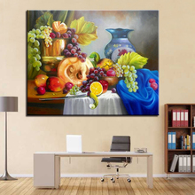 DIY By Numbers Oil Painting Kits Coloring Paint Fruit And Porcelain Framework Modern Home Decorative Modular Wall Art Picture